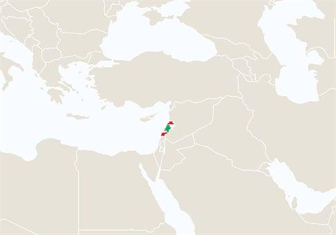 Libanon kart
