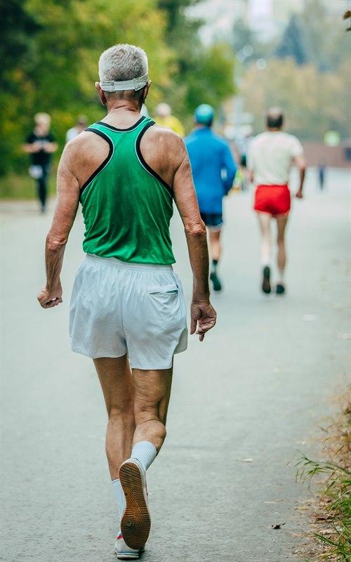 Eldre jogger