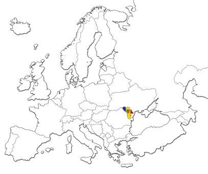 Moldova kart