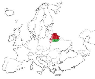 Hviterussland kart