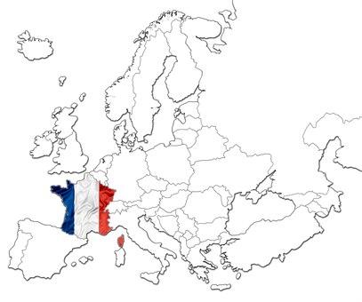 Frankrike kart