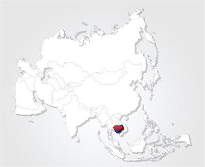 |Kambodsja kart