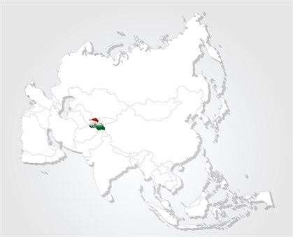 Tadsjikistan kart