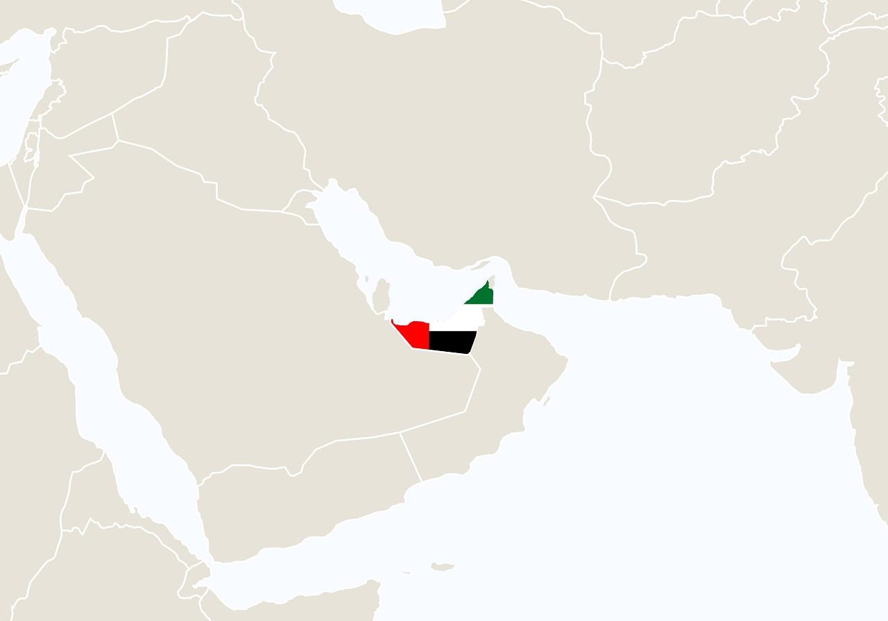 Arabiske Emirater Kart