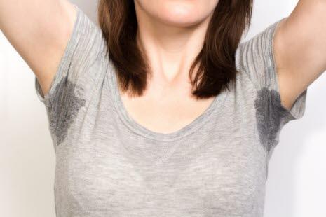 4b59e23f Sterk svetting fra armhulene kan være særlig brysomt under stress.