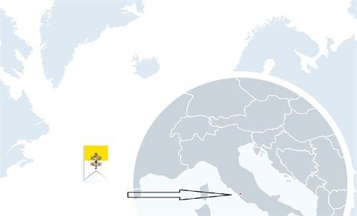Vatikanstaten kart