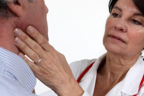 hovne lymfekjertler i halsen